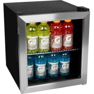 Compact Stainless Steel Beverage Cooler Mini Fridge EdgeStar Drink