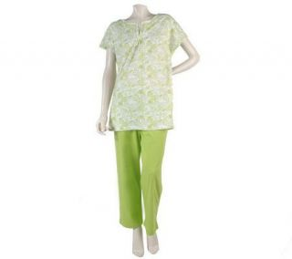 Stan Herman Seashells 100Cotton Jersey 2 pc. Tunic Set —