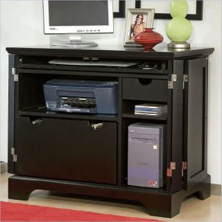Home Styles Bedford Compact Office Ebony Storage Cabinet