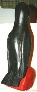 Big Joe Mccuaig Folk Art Wood Carving Crow Outsider