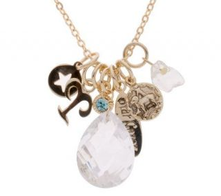 Kirks Folly Stargazer Crystal & Charm 18 1/4 Necklace —
