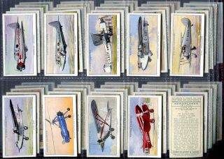 Tobacco Card Set John Player Civil Aircraft Passanger Plane 1935
