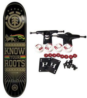 Element Skateboards Complete Skateboard Roots Rasta 8