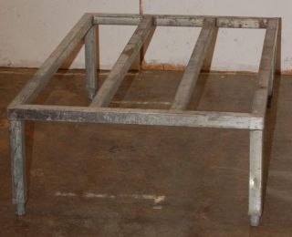 stainless steel dunnage rack 48 x 30 used stainless steel