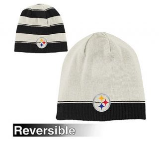 NFL Pittsburgh Steelers Cuffless Reversible Knit Hat —