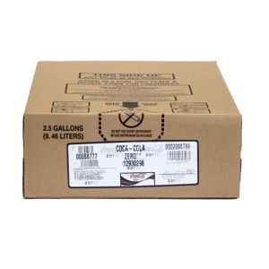Coca Cola Zero Soda Syrup Concentrate 2 5 Gal Bag N Box