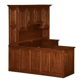 Amish Corner Computer Desk Hutch Home Office Solid Wood Oak Maple