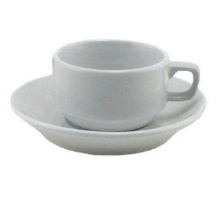 Cordon Bleu Bistro Espresso Cup Saucer Set Basic White Kitchen Coffee
