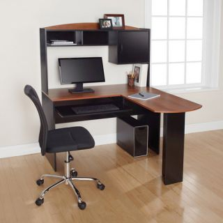 Desk with Hutch Home Office Computer Furniture Table Wood