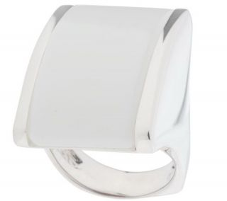 Arte dArgento Sterling Bold Elongated Gemstone Ring —