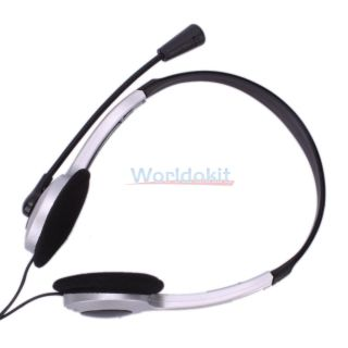 New Headphone Microphone Headset for PC Computer MSN Skype