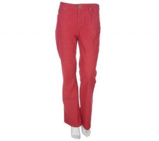 Denim & Co. Modern Waist Stretch Colored Denim 5 Pocket Jean