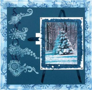 Inkadinkado Christmas in New York Clear Rubber Stamp Set