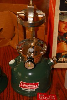 Vintage Coleman 201 kerosene lantern new in box 1976 never lit