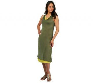 Liz Claiborne New York Reversible Sleeveless Cowl Neck Dress