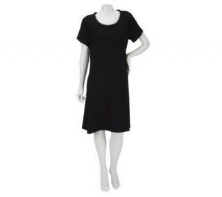 Liz Claiborne New York Matte Jersey Dress with Braided Detail
