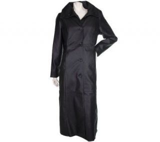 Modernist by Guillaume Full Length Faux Leather Coat w/Lining