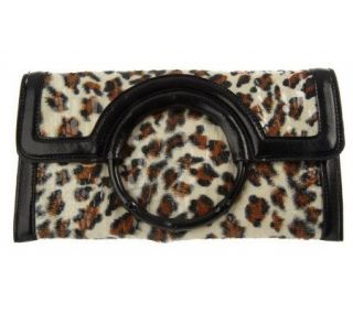 Joan Rivers Call of the Wild Animal Print Clutch —