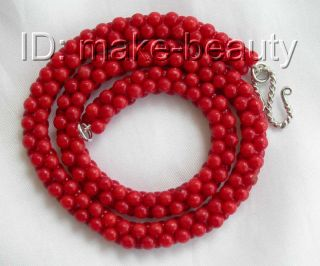 Stunning Classic 10mm Baroque Red Crude Coral Necklace B31