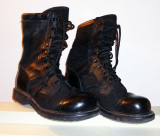 Corcoran Mens Oil Resistant Black Military Boots Jump Boots Size 9 EE