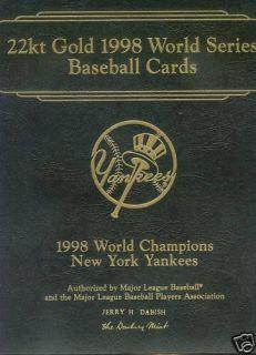 Danbury Mint NY Yankees World Series 22kt Gold Set
