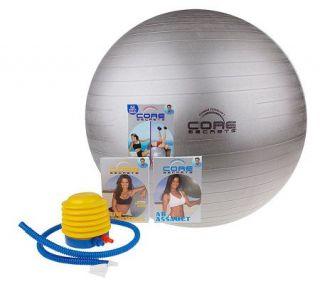 Core Secrets Workout Ball Fitness Program w/4 DVD/VHS by Guthy Renker