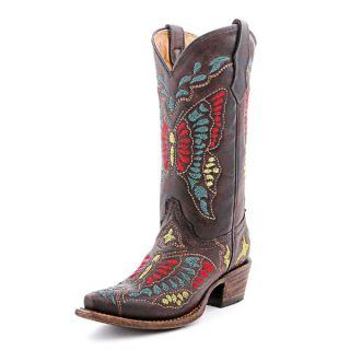 Corral Teen Butterfly Multi Color Cowgirl Boots A1030
