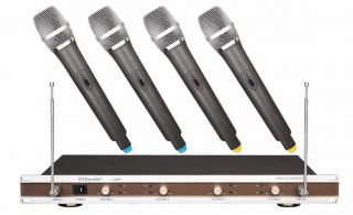 VHF 4 Channel Wireless Microphone System with ONLY 3 Microphones