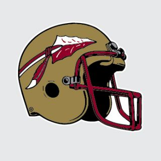 State Seminoles FOOTBALL HELMET 6 Vinyl Decal Car Truck Sticker FSU