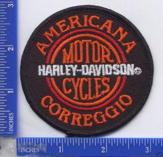 Harley Davidson Dealer Americana H D Correggio Italy Patch