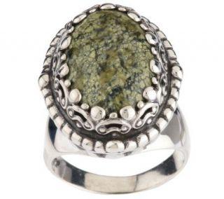 Carolyn Pollack Sterling Green Goddess Ring —