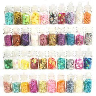 Bottle Nail Art Decoration Glitter Beads Spangle Confetti Lace