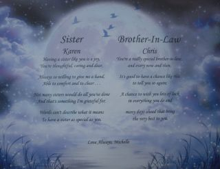 Sister Brother in Law Personalized Poems Thoughtful Christmas Card