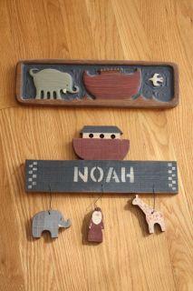 2 Noahs Ark Wooden Decorations by Chicken Creek
