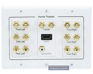 Surround Speaker 3 Gang Decora Wall Plate with HDMI Guaranteed in