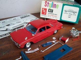 Vintage 1962 AMT Chevy Corvair Built Model Car Kit WBX