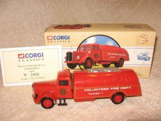 Corgi White Tanker Volunteer Fire Dept Truck 98452