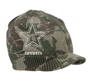 NFL Dallas Cowboys Old Orchard Beach CamouflageVisor Knit Hat