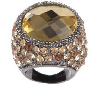 Joan Rivers Celebrity Roast Crystal Cocktail Ring —