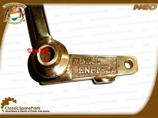Get a Genuine Brass Rear Brake Pedal with Royal Enfield Logo for your