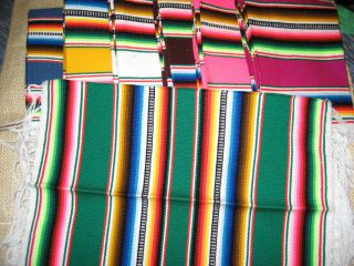 Placemats Set of TWO Mexican Woven Colorful Zarapes Choose ONE Color