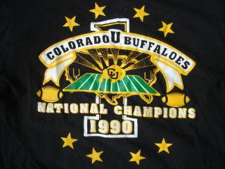Colorado Buffaloes CU Buffs Football National Champions 1990 T Shirt