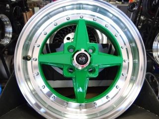 Royal Green Rota Zero Plus w Tires Free Colored Lugs EF EG EK