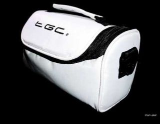 Cool White Carry Case Bag for Olympus Camedia C 740 Ultra Zoom Camera