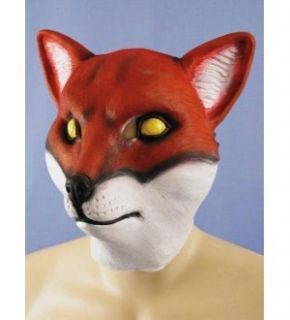 red fox animal full face adult costume mask