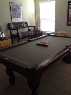 Pool Table Parlor Bench Accessories and Stand