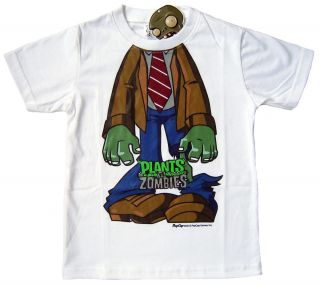 PLANTS VS ZOMBIES 100 Cotton T Shirt Top Boys Clothes Ipad Iphone Game