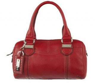 Tignanello Pebble Leather Convertible Zip Top Medium Satchel