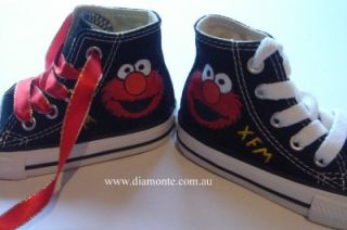 elmo on black converse shoes hand painted cop29