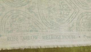Rose Tarlow Hemp Fabric Custom Designer Throw Pillows Aqua Ivory New